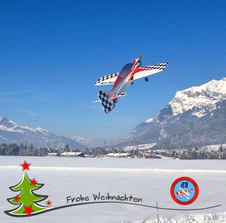 Frohe Weihnachten Flugzeug.Frohe Festtage Modellflugclub Landquart
